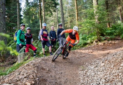 Intermediate mountain bike skills courses in Scotland