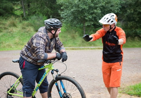 Ridelines beginners mountain bike skills course.
