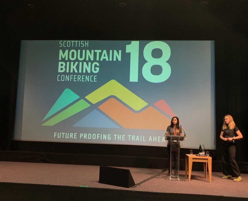 Aneela McKenna and Lee Craigie speak at the 2018 MTB conference