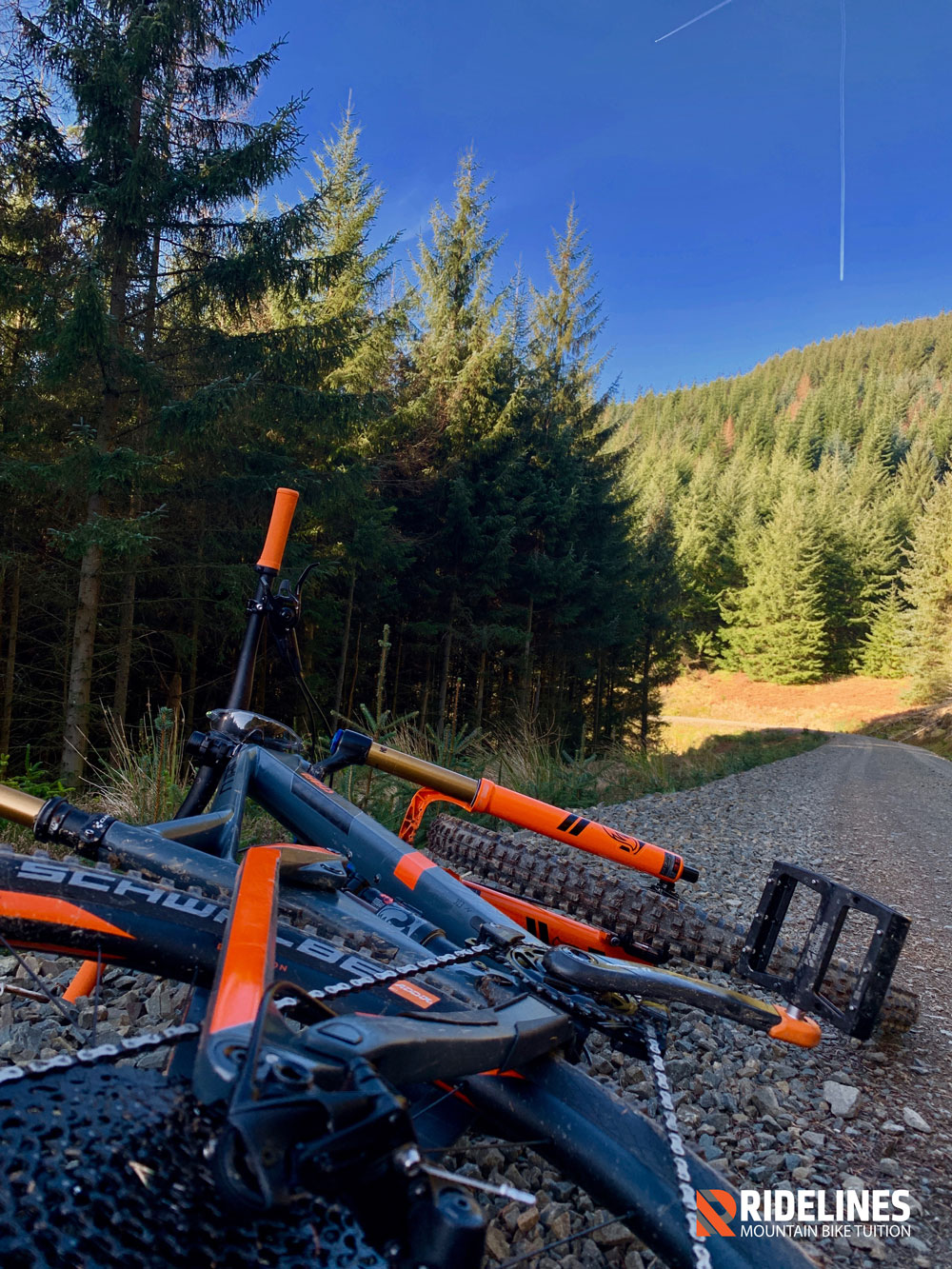 If you're riding the full black route at Glentress. You should be tired around here.