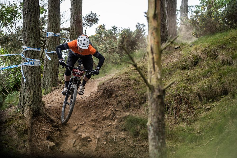 Allan From Ridelines Descending at Glentress 7 2019