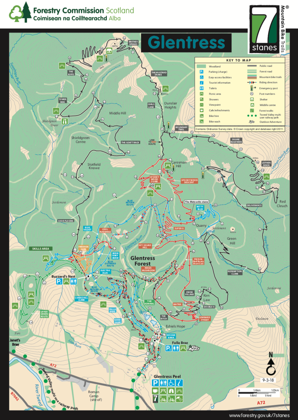 Glentress Trail Map