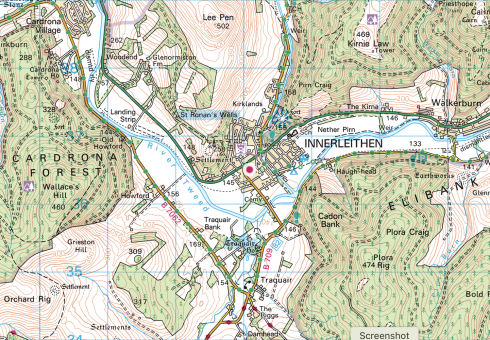 Ordnance Survey Map Landranger 73