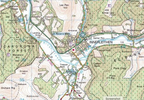 Ordnance Survey Map Landranger 73
