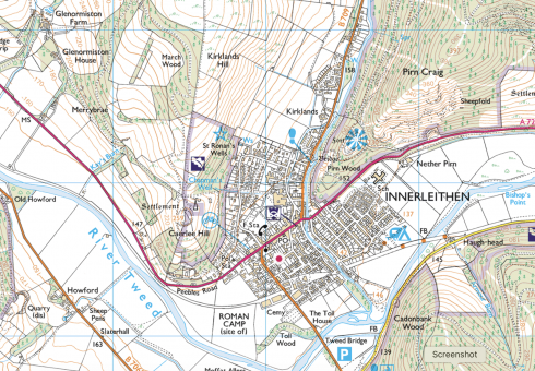 Ordnance Survey Explorer Map 337 for Peebles & Innerleithen