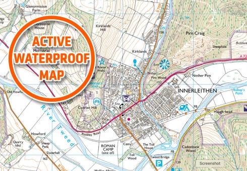 Ordnance Survey Explorer Active Waterproof Map 337 for Peebles & Innerleithen.