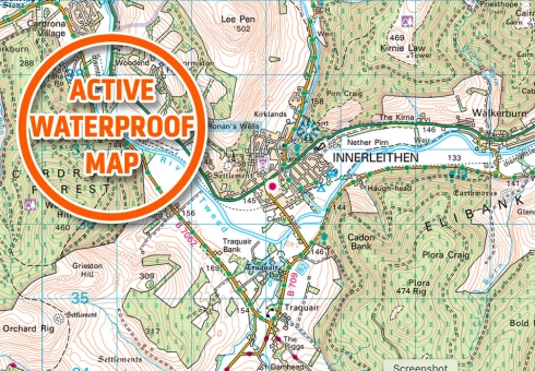 Ordnance Survey Landranger Map 73 for Peebles & The Tweed Valley